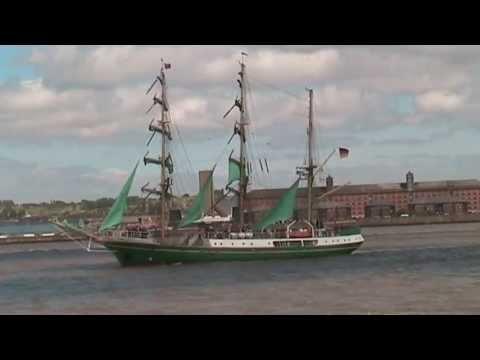 Barbara & Alan record the Tall Ship Parade - River Mersey - July 2008