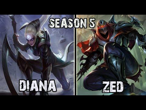 Best Diana NA vs Zed MID Ranked Challenger