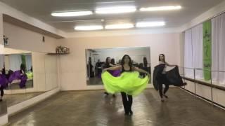 Школа восточных танцев KrisStyle. Рабочие моменты. Отрывок из постановки, новый урок.