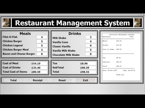 Java NetBeans Object Oriented Project of Restaurant Management System - Full Tutorial