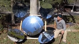 Parabolic Mirror Array Solar Powerhouse SPOTLIGHT FIRE