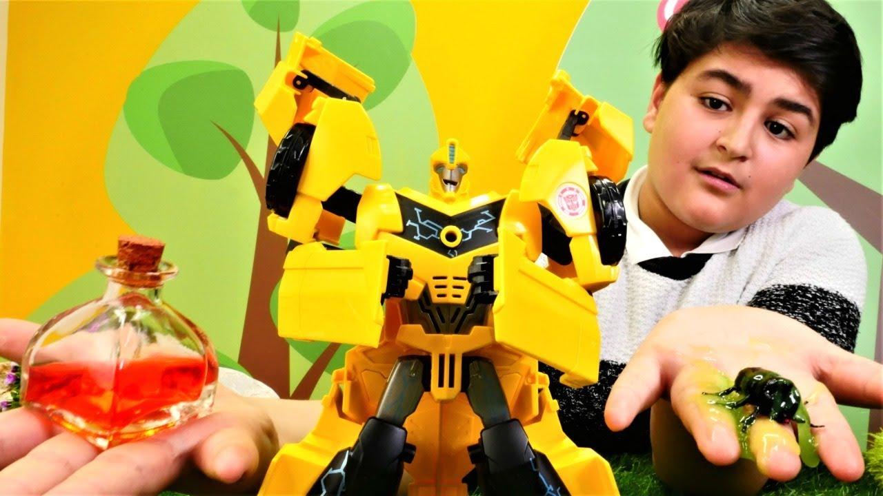 Transformers oyunları.  Bumblebee 'yi hıçkırık tutuyor