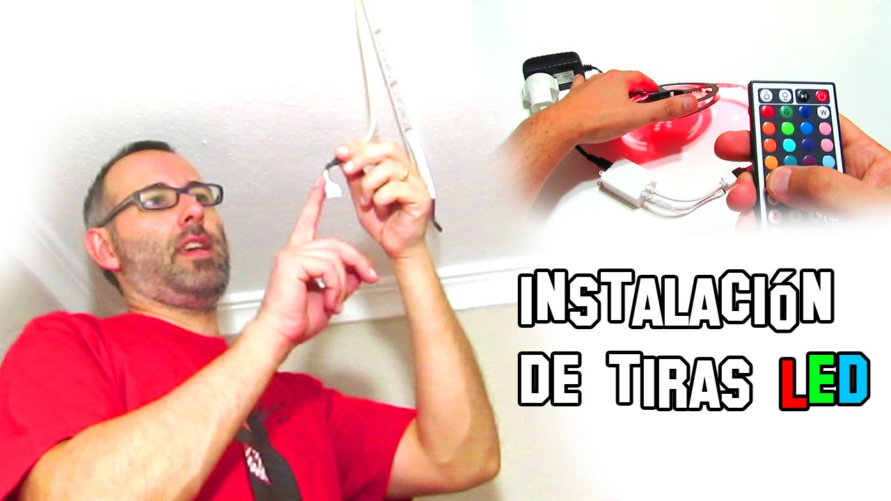 C mo instalar tiras de led iluminaci n tutorial youtube - Tiras de led exterior ...
