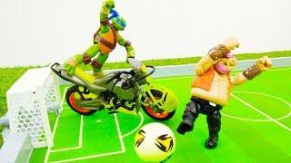 Черепашки Ниндзя: приключение на Чемпионате мира по футболу для детей!