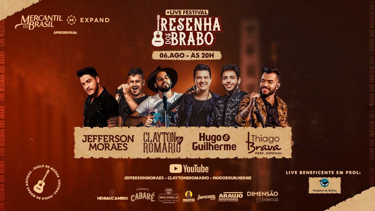 Download Live Resenha dos Brabo - Thiago Brava, Hugo e Guilherme, Jefferson Moraes e Clayton e Romário