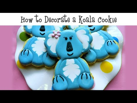 How to Decorate a Koala Cookie