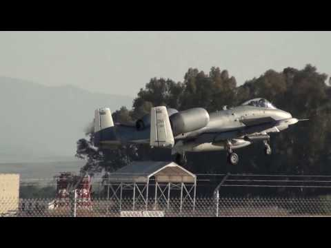 U.S Air Force Fairchild A-10C Thunderbolt II (81-0983) Landing Moron Air Base LEMO (DM)