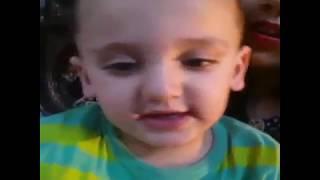 Cute baby saying Happy Birthday