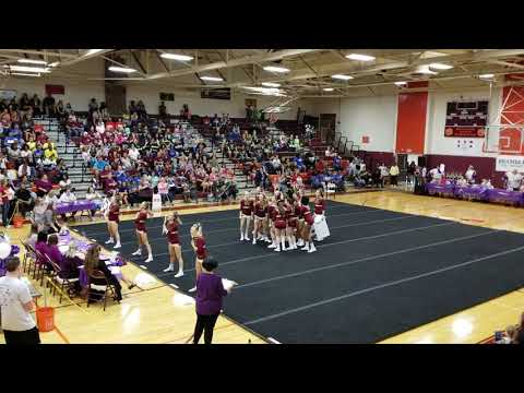 Pulaski County High School at The Battle @ Byrd Cheer Competition 2018