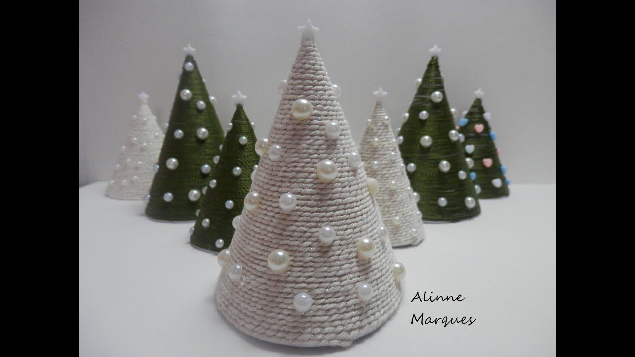 Artesanato Garrafas De Vidro Recicladas ~ Miniárvore natalina Artesanato Passo a passo YouTube