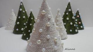 Mini árvore natalina – Artesanato Passo a passo – Alinne Marques