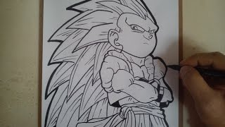 COMO DIBUJAR A GOTENKS SSJ3 / how to draw gotenks ssj3