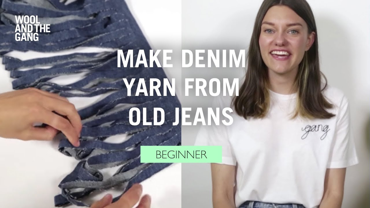 65304ea4f How to  Make Denim Yarn from Old Jeans - YouTube