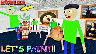 WELCOME TO BALDI'S ART CLASS!! CHECK OUT NEW BALDI SCULPTURE!! | The Weird Side of Roblox: Baldi RP