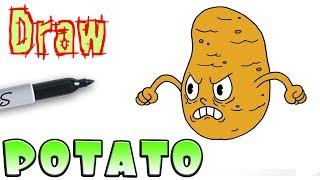How to Draw the Potato Boss | Cuphead