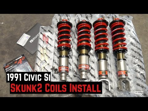 Skunk2 Pro-S2 Coilovers Install – 1991 Civic Si Build B16A