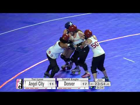 2017 International WFTDA Championships Game 6: Denver Roller Derby vs  Angel City Derby