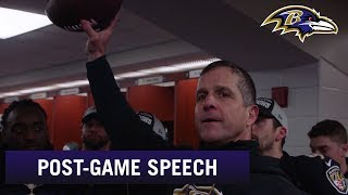 John Harbaugh Post-Game Locker Room Speech After Winning AFC North