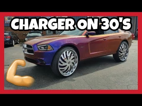 CUSTOM CHARGER ON 30S CANDY PAINT SUPER CRAZY REVIEW STUNNA REESE