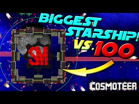BIGGEST SHIP POSSIBLE vs. 100 FIGHTERS! - Cosmoteer Gameplay