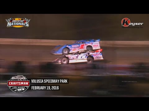 Highlights: World of Outlaws Craftsman Late Model Series Volusia Speedway Park February 19th, 2016