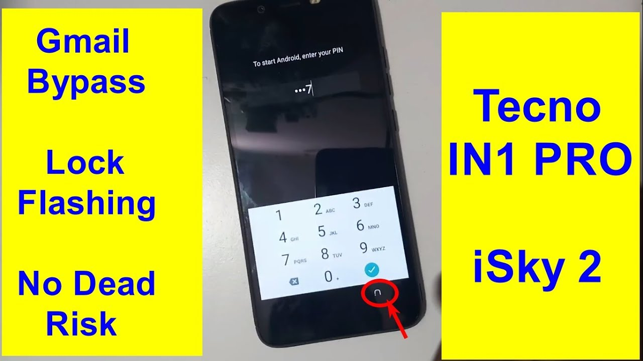 Tecno Camon iSky 2 (In1 pro) Frp Phone Lock And Software Update With Tested  File