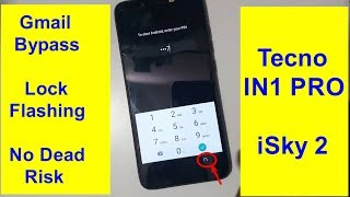 Tecno Camon iSky 2 (In1 pro) Frp.Phone Lock.And Software Update.With Tested File