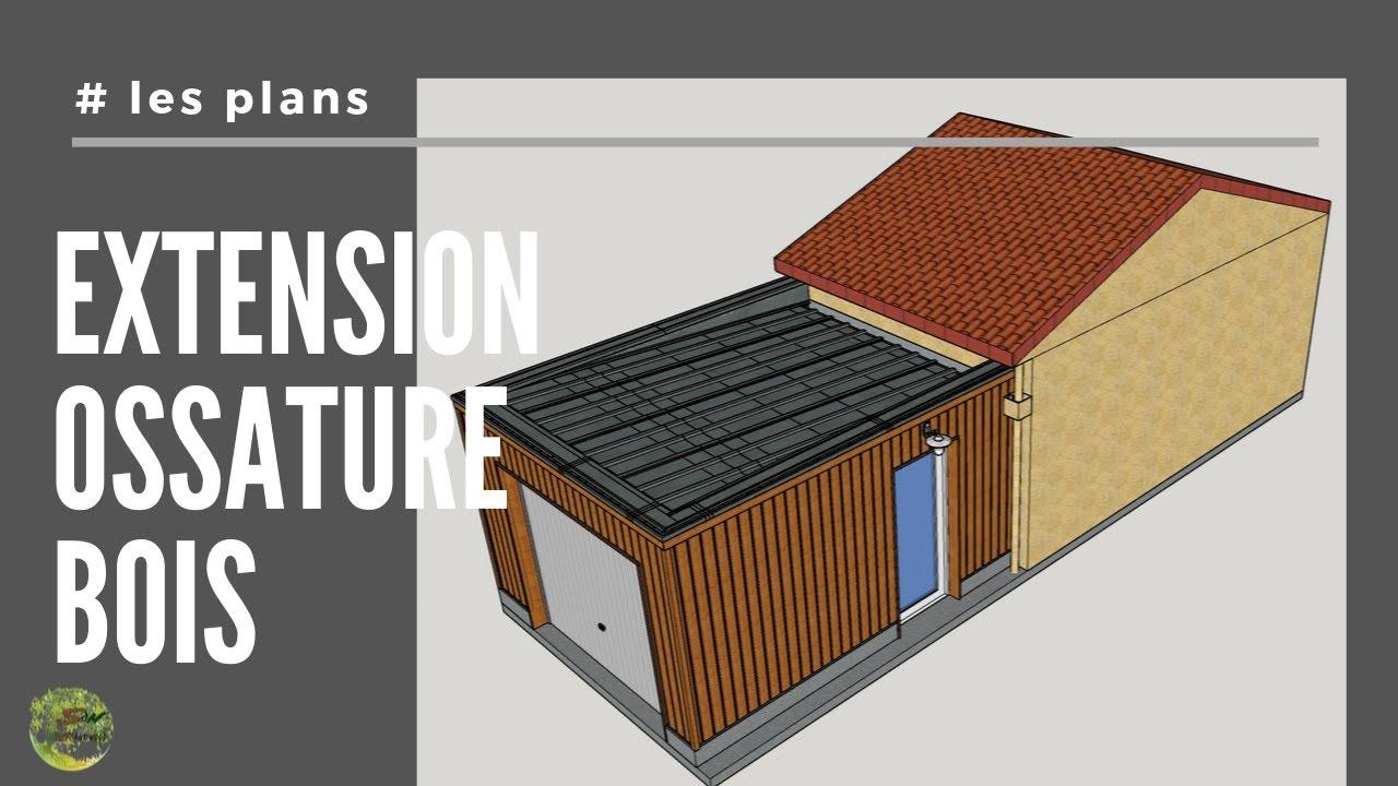 Extension Garage En Ossature Bois Les Plans Youtube