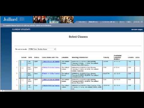 WebAdvisor Registration - Select Classes