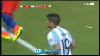 ملخص الشوط الأول من مباراة الأرجنتين و تشيلي