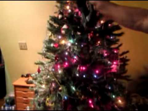 EASY Removal of Tinsel / Icicles from your Christmas tree - YouTube
