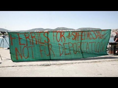 Депортация нелегалов из Греции в Турции приостановлена