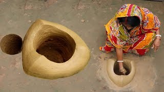 Primitive Technology Making Clay Oven for Cooking | Mud Oven for Leaf & Wooden