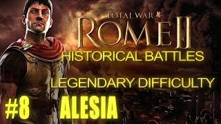 BATTLE OF ALESIA - Legendary Difficulty - Historical Battle for Rome 2
