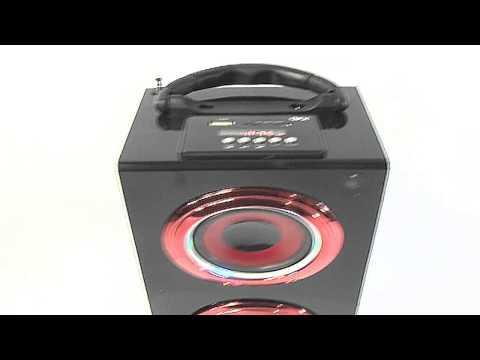 QFX CS-228 Portable Speaker With Rechargeable Battery USB SD Aux Multimedia Player