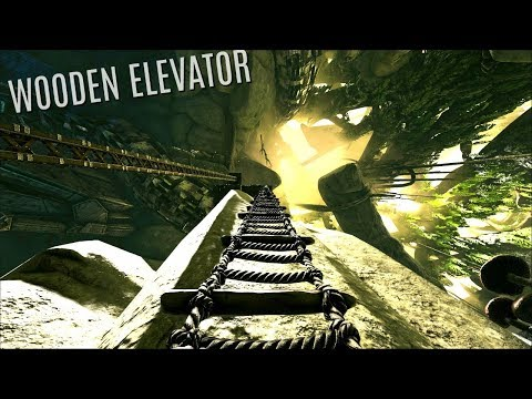 THE WOODEN ELEVATOR BUILD - Aberration PVP (E3) - ARK Survival