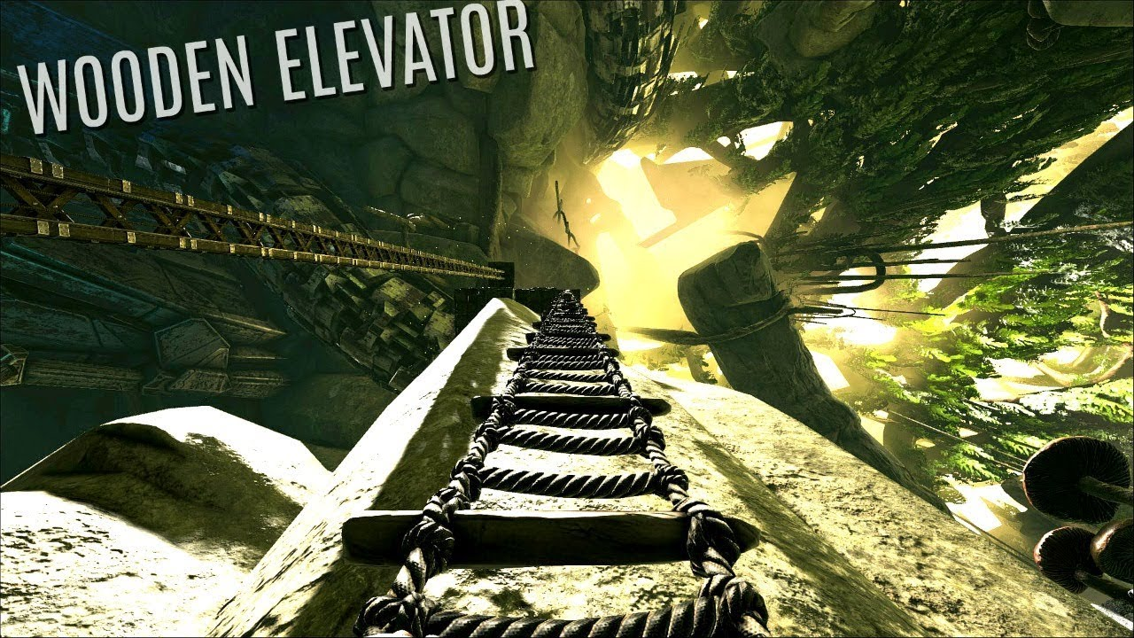 Ark Wood Elevator the wooden elevator build - aberration pvp (e3) - ark survival