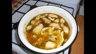 Куриный суп с клецками. Самый вкусный рецепт.