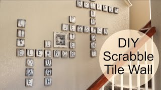 DIY SCRABBLE TILE GALLERY WALL | Less than $30 Farmhouse Project
