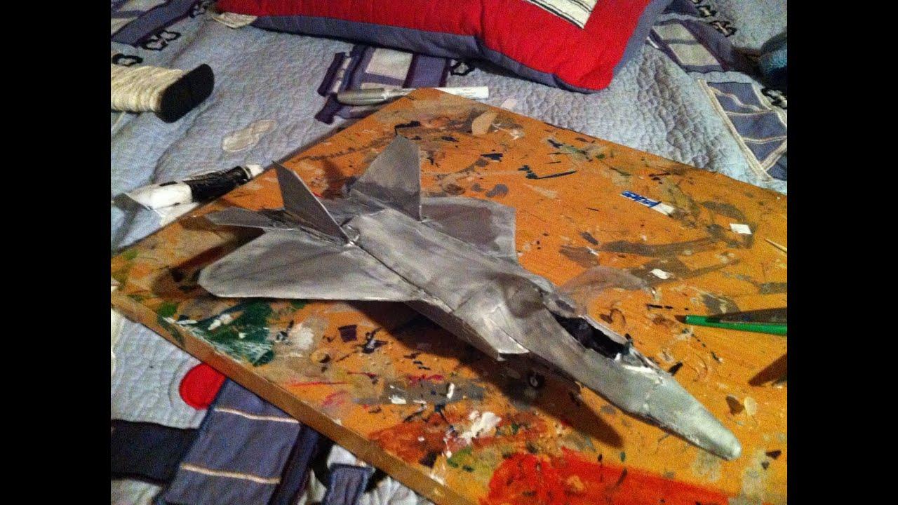 Papercraft F-22 Raptor Paper Model