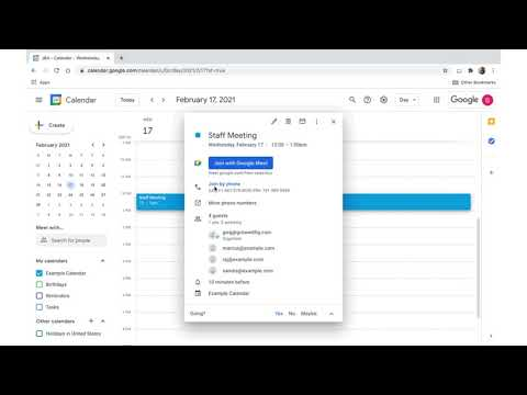 How to: Email guests in Google Calendar