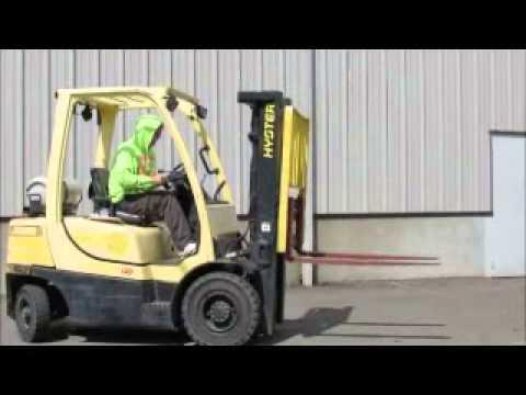 Sold Hyster H50FT 3 Stage Mast Forklift Lift Truck Side Shift