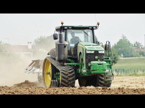 THE GREEN ROCKET - John Deere 8370 RT + Quadrivomere Lemken VariOpal 9