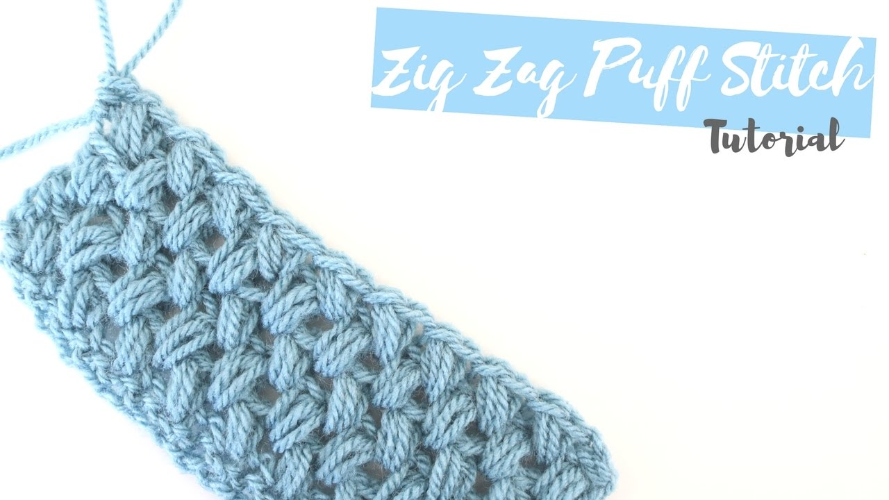 CROCHET: How to crochet the Zig Zag puff stitch | Bella Coco - YouTube