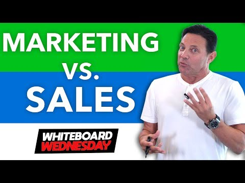 Sales Vs Marketing! Who Wins?! Whiteboard Wednesday #2