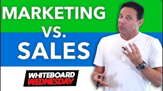 Sales vs Marketing! Who Wins?! Whiteboard Wednesday #2