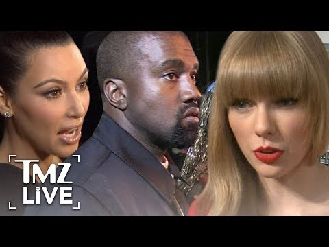 Kim & Kanye Reignite Taylor Swift Feud Over Old Kanye Video | TMZ Live