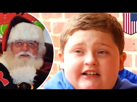 Thumbnail: Fat shaming: Santa Claus fat-shames little boy, tells him to lay off the burgers & fries - TomoNews