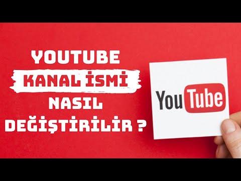 YOUTUBE KANAL İSMİ NASIL DEĞİŞTİRİLİR ? Youtube Kanal Adını Değiştirme [2020]
