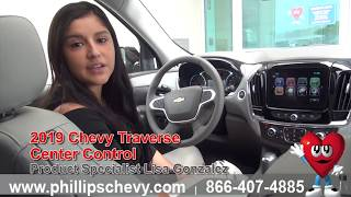 2019 Chevy Traverse Center Control at Phillips Chevrolet